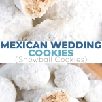These Mexican Wedding Cookies (also known as Snowball Cookies or Russian Tea Cakes) are buttery, melt-in-your-mouth delicious! Pecan cookies with a hint of cinnamon dusted with powdered sugar.   livforcake.com