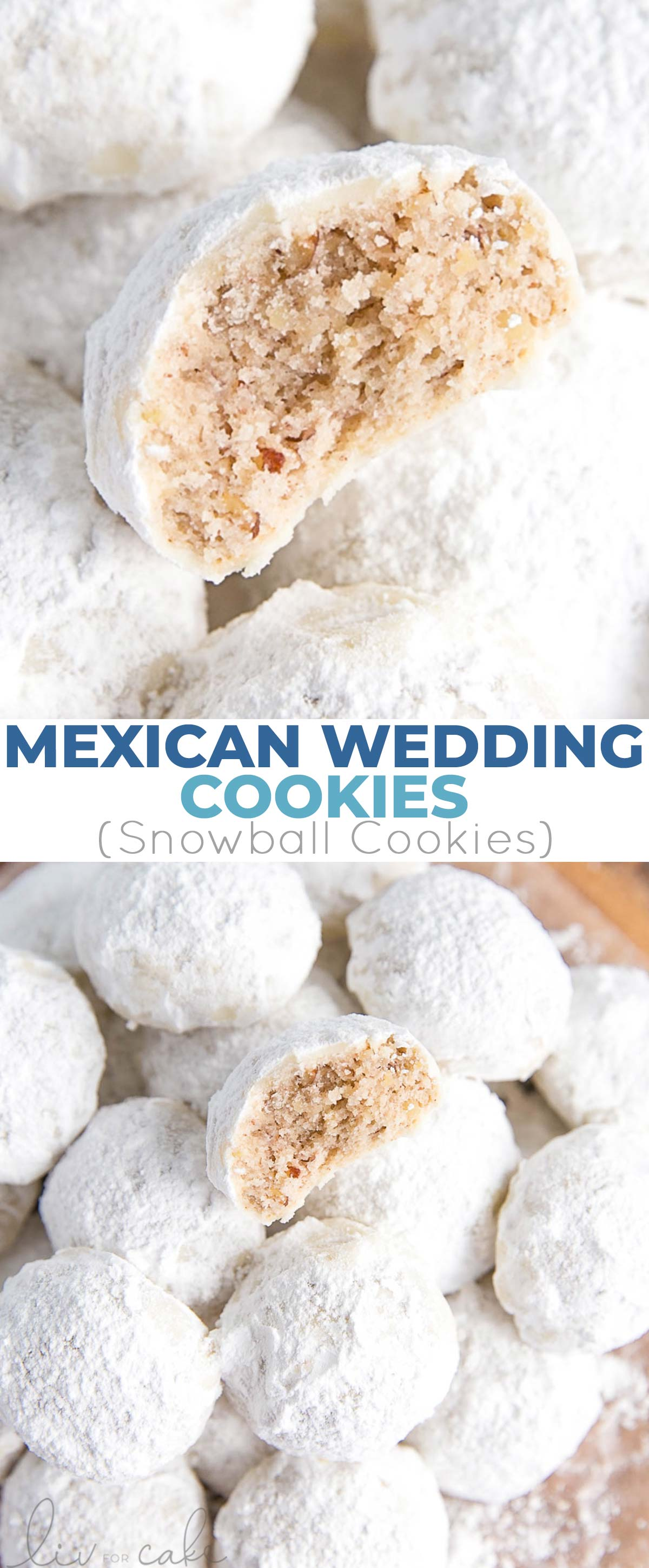 Collage photo of Mexican Wedding Cookies