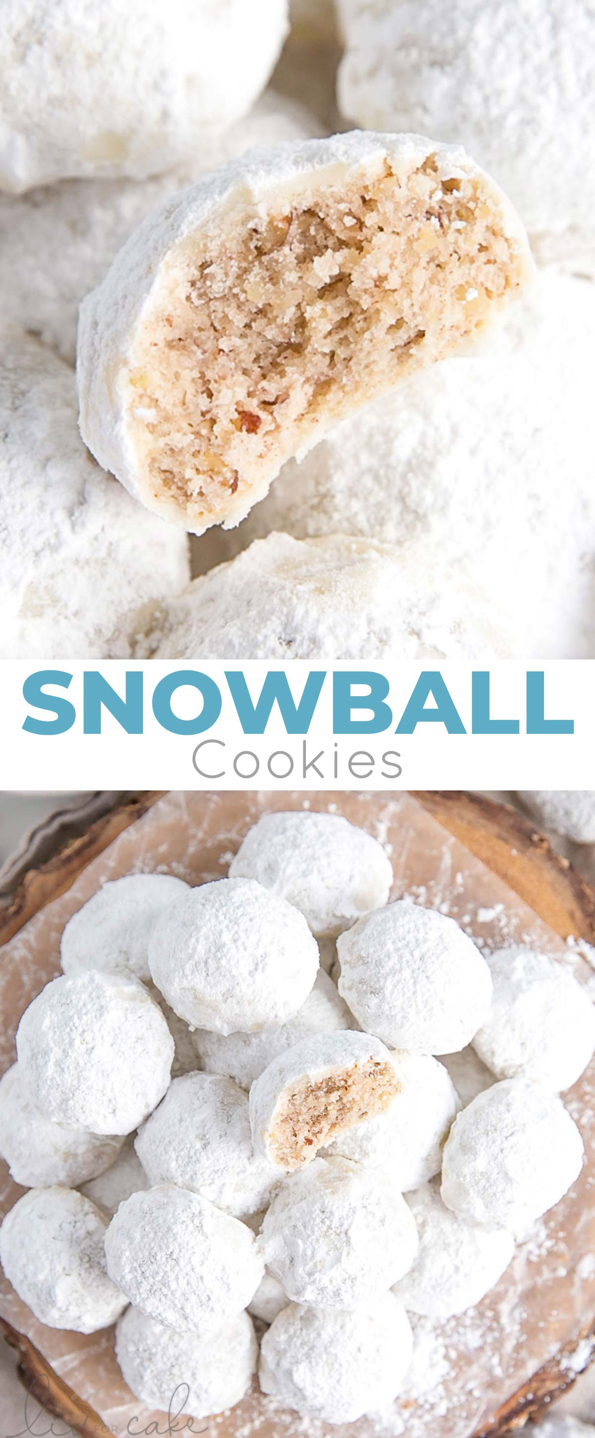 Collage photo of Snowball Cookies