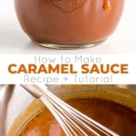 Make your own caramel (or salted caramel) at home with this easy tutorial! This easy Caramel Sauce recipe takes only four simple ingredients and 15 minutes to make. | livforcake.com