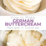 This custard-based German buttercream is made with just a few simple ingredients. Perfect for those who like a rich and silky frosting that isn't too sweet! | livforcake.com