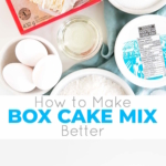Take your box cake mix to the next level with this easy recipe! A few simple additionsmake it extra moist and delicious. | livforcake.com