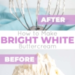 Learn how to make buttercream white with these simple tips & tricks! Perfect for wedding cakes and when you need a white buttercream base to start from.   livforcake.com