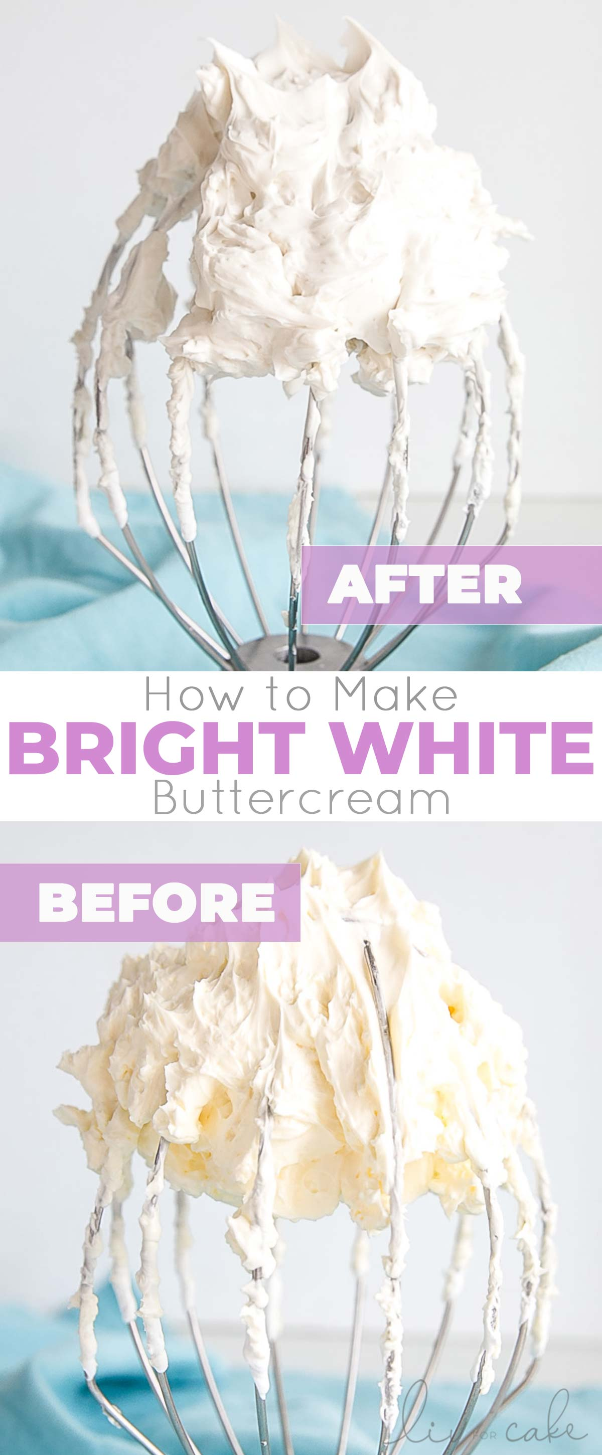 White buttercream photo collage.