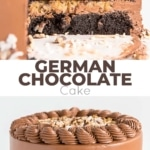 This Classic German Chocolate Cake combines rich chocolate cake layers with a sweet coconut pecan filling and a dreamy chocolate buttercream.   livforcake.com