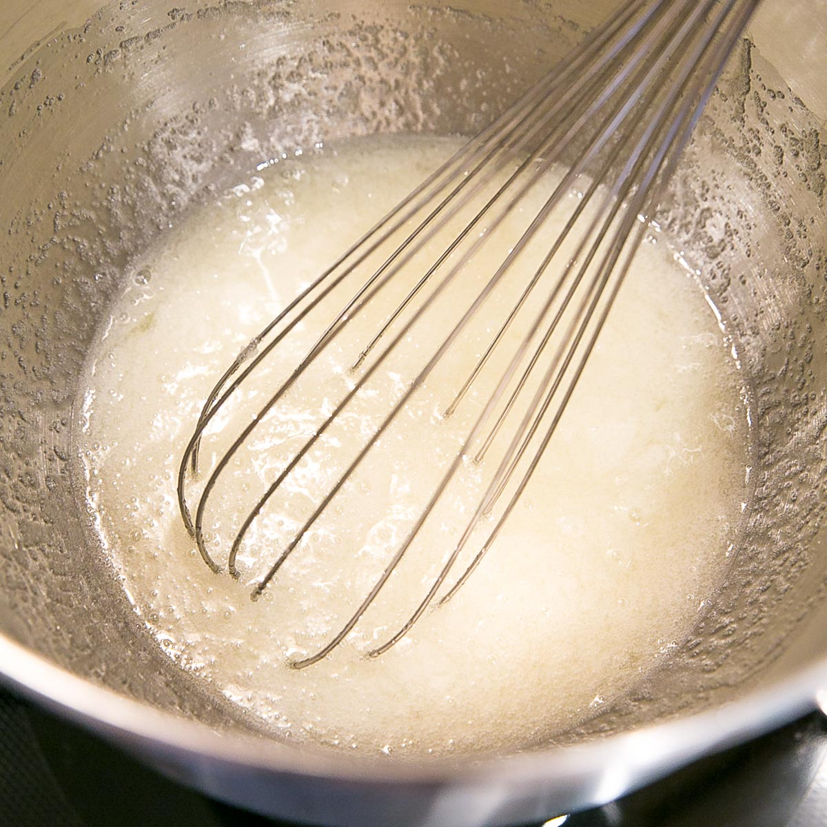 Egg and sugar mixture before cooking.