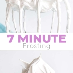 This old-fashioned 7 minute frosting recipe is light, delicious, and easy to make. A pure white frosting that's perfect for a variety of delicious desserts. | livforcake.com