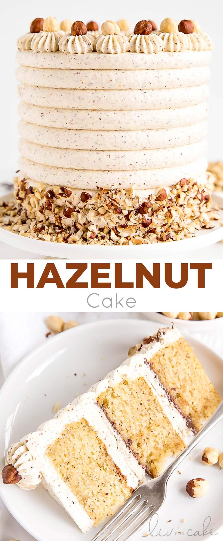 Hazelnut Cake photo collage.