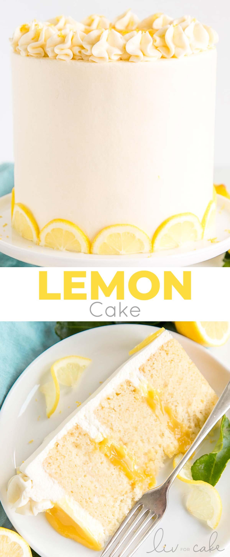 Lemon cake photo collage