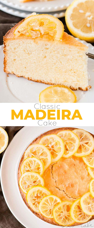 Madeira Cake photo collage.