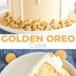 Golden Oreo Cake photo collage