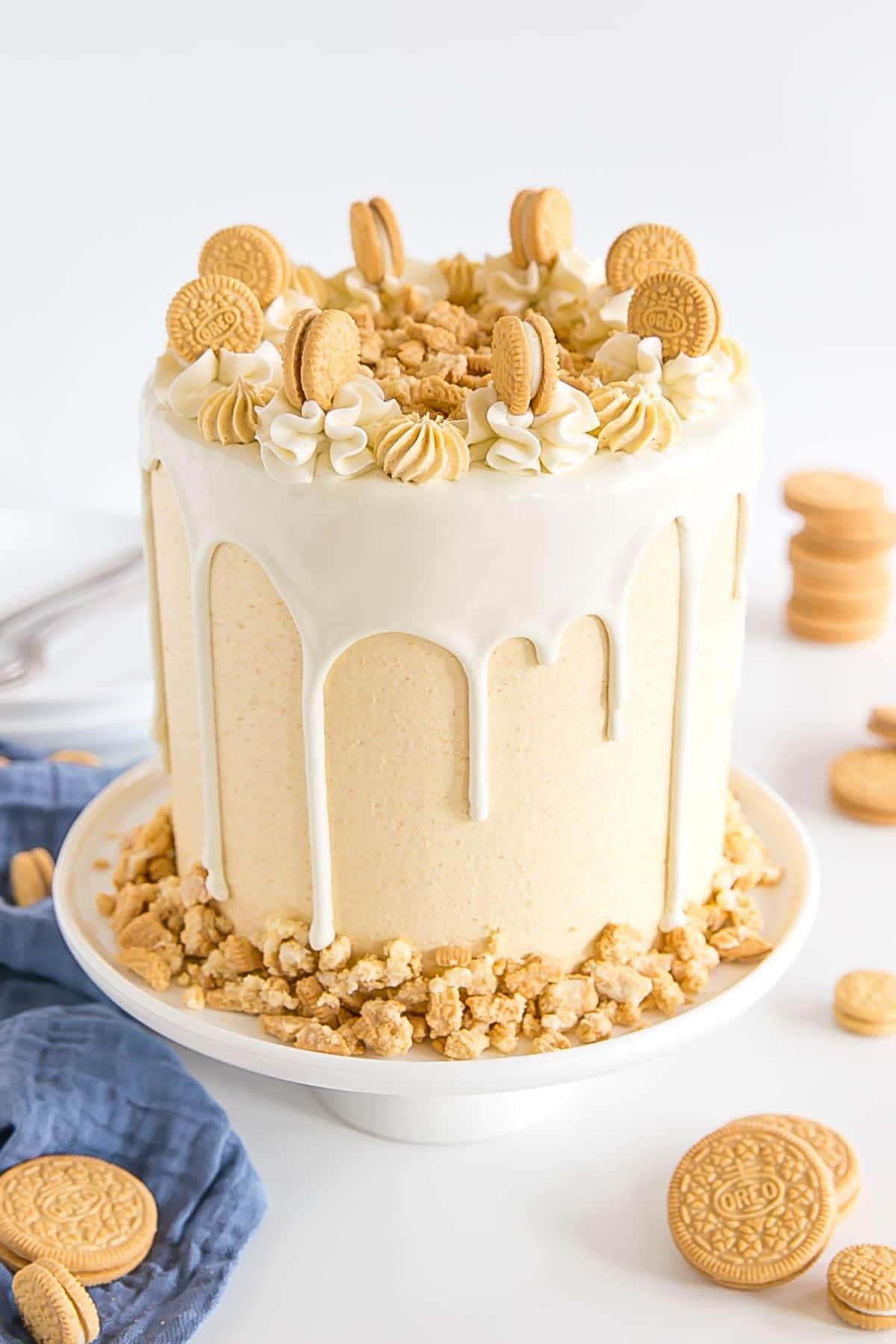 Angled shot of the cake.