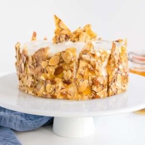 Honey Almond Cake thumbnail.