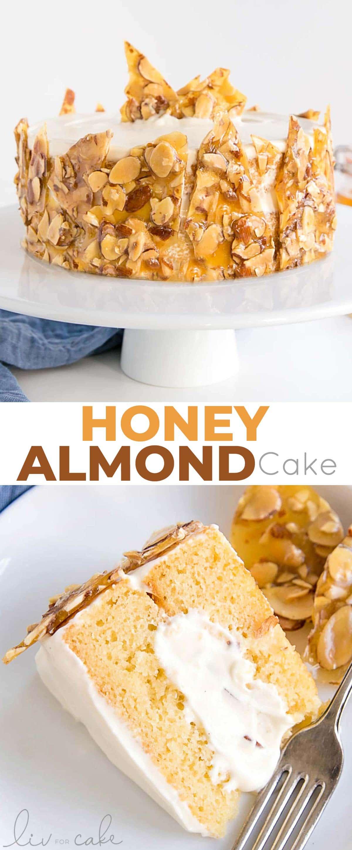 Honey Almond Cake collage.