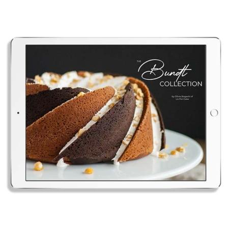 Bundt cakes ebook on an ipad