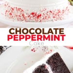 chocolate peppermint cake collage